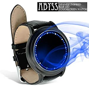 Abyss - Japanese Inspired Blue LED Touchscreen Watch.