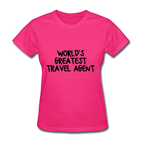 Worlds_greatest_travel_agent Women T-shirt Pink Xxx-large Pattern Available
