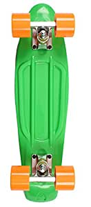 "Complete 22"" Retro Plastic Cruiser Skateboard - 7 Colours! (Vintage 70s Penny Globe Bantam Style) (Green)"