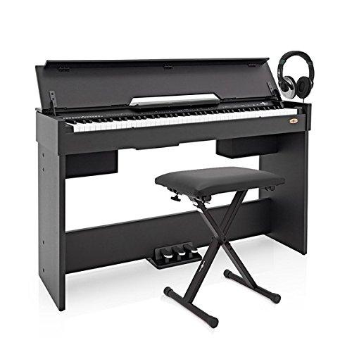 Piano-Digital-DP-7-Compacto-de-Gear4music-Accesorios-Negro