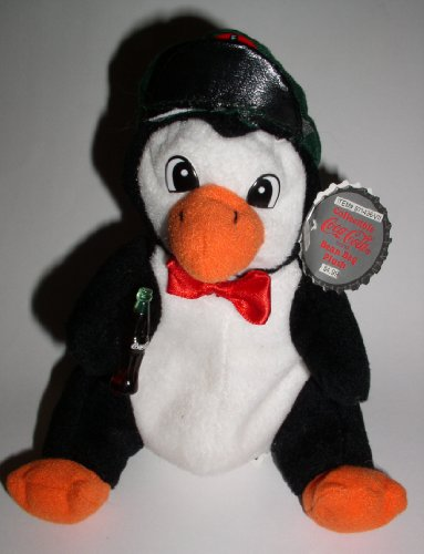 Collectible Coca-Cola Bean Bag Plush -Penguin Style #0108
