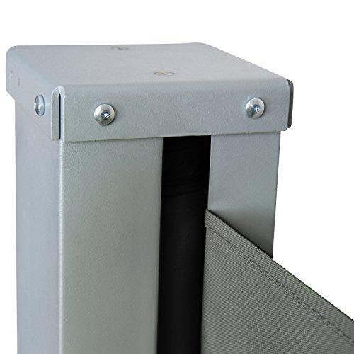 test jago seitenmarkise sonnenschutz sichtschutz windschutz diverse farben und gr en. Black Bedroom Furniture Sets. Home Design Ideas
