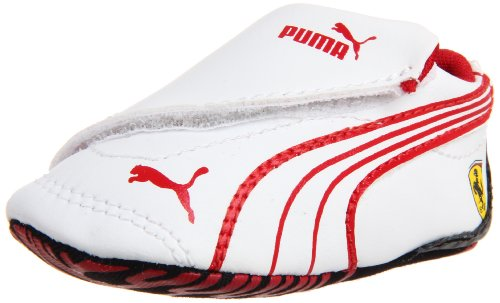 Puma Crib Pack Ferrari Crib Shoe (Infant/Toddler),White/Rosso Corso/Black,3 M US Infant