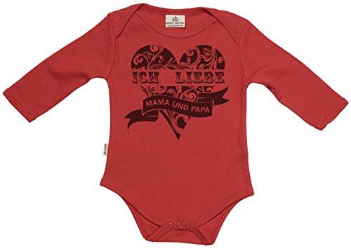 ich liebe mama und papa baby strampler baby body baby geschenk in milcht te rot 12 18 monate. Black Bedroom Furniture Sets. Home Design Ideas