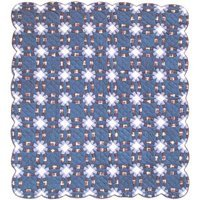 "Blue Double Wedding Ring Quilt Queen/Full 85""x 95"" QQBDWR by Patch Magic"