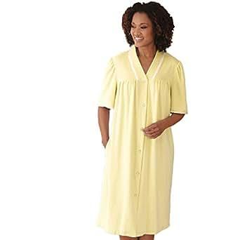 Blair Women's Plus Size Snap-Front Terry Robe - 3XL Yellow   Amazon