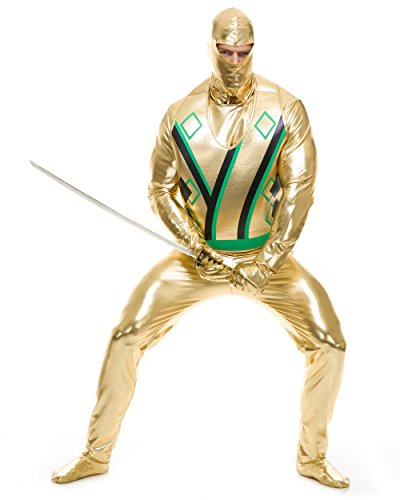 Adult's Mens Gold Ninja Avenger Series 3 Martial Arts Costume