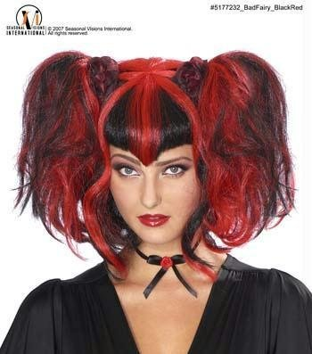 Costumes For All Occasions Mr177232 Bad Fairy Wig Black/Red
