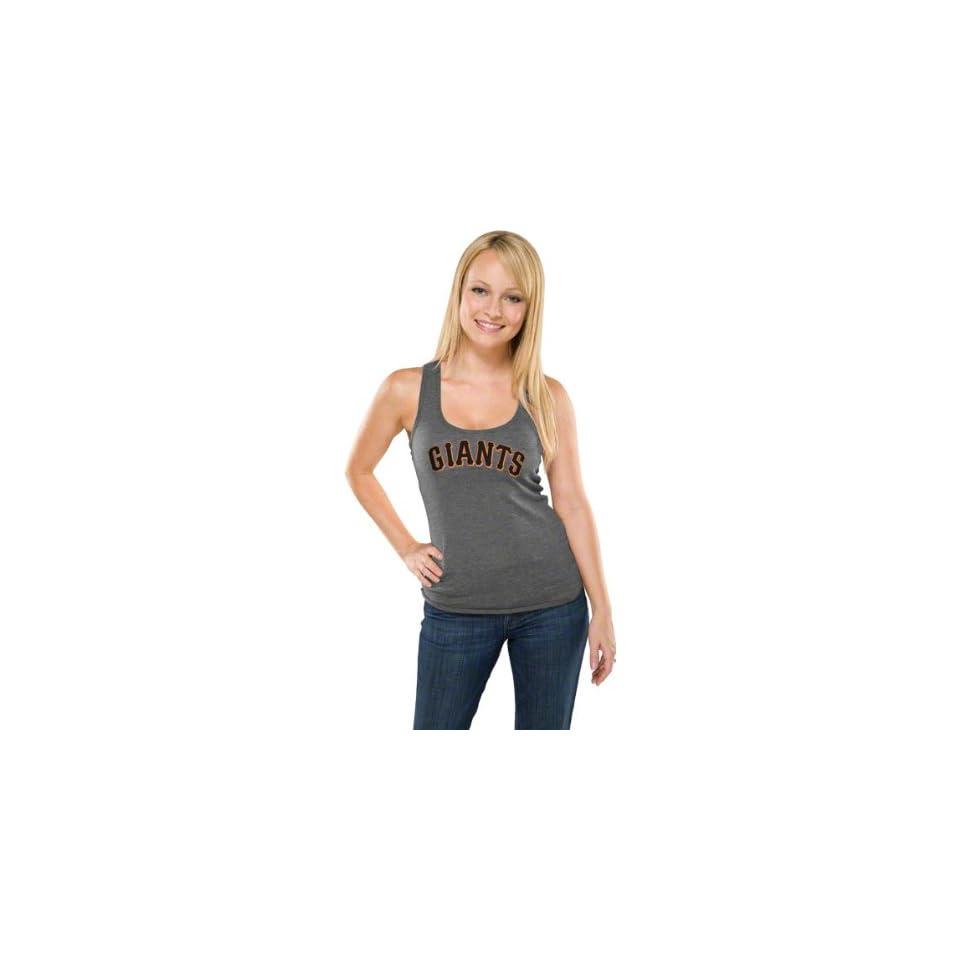 San Francisco Giants Womens Heather Charcoal Tri Blend Tank Top