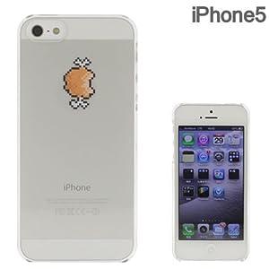 [SoftBank/au iPhone 5専用]Applusアップラスハードクリアケース(8bit マンガ肉!)