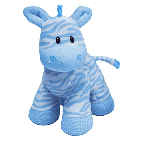 "First & Main Zippy Zebra Blue 8"" Standing Toy"