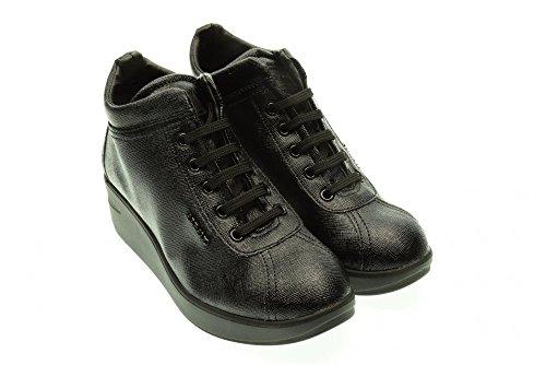 ALBANO donna sneakers basse con zeppa 105 nero 38 Nero