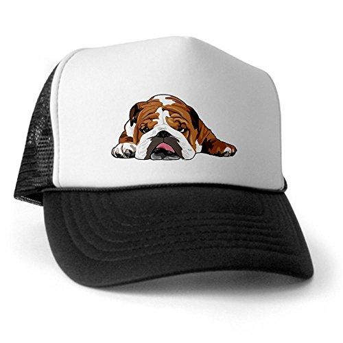 CafePress - Teddy the English Bulldog Trucker Hat - Trucker Hat, Classic Baseball Hat, Unique Trucker Cap (Cap Bulldog compare prices)