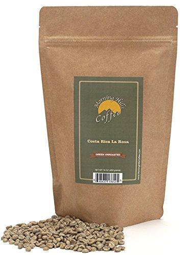 Costa Rican La Rosa Green Unroasted Coffee Beans 1 Pound (Whole Bean Coffee Unroasted compare prices)