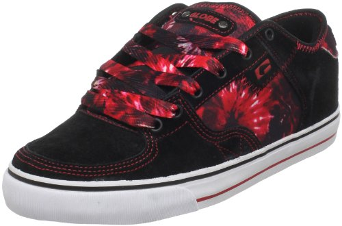 Globe Men's Haslam-Sabaton Skate Shoe,Black/Red/Dye,10 D US