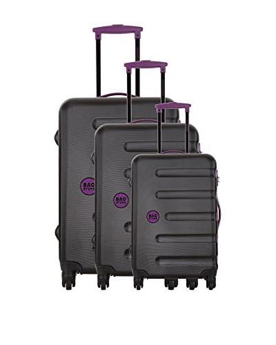 Bag Stone Set 3 Trolley Rigido Moon [Nero]