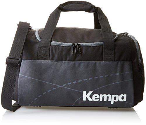 Kempa, Borsa sportiva Teamline, Nero (Schwarz/Anthra), 46 x 25 x 27 cm, 30 litri