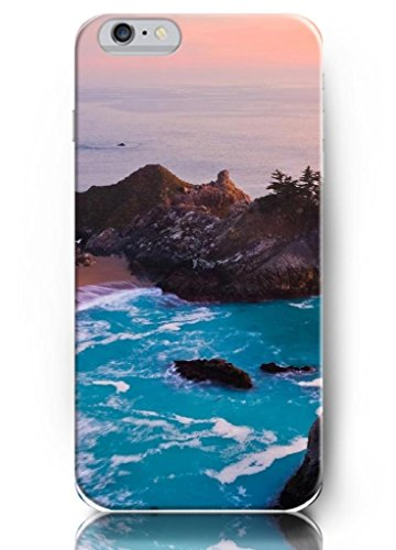 Ouo New Unique Vintage Hard Cover For 4.7 Inch Iphone 6 Case Mountains And Blue Sea Water