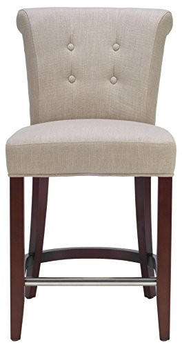 Safavieh Hudson Collection Elsa Linen Counter Stool, Sand front-216261