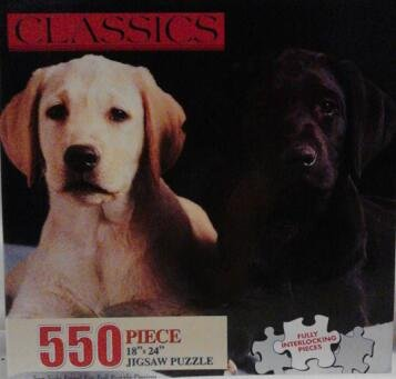 Labrador Retriever Puppies Classics 550 Piece Puzzle