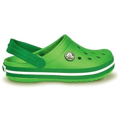 Crocs Crocband Kids 10998-32G Kinder Clogs, lime/kelly green, Gr. 33-34 EU / 2 US J