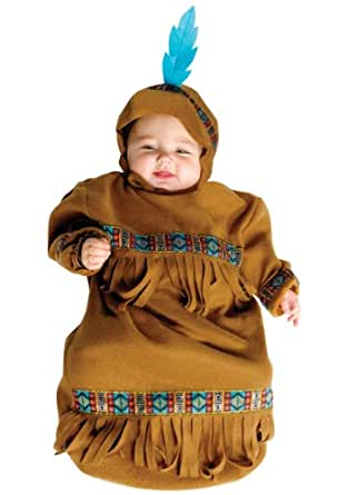Baby Papoose Indian Costume Size Newborn to 9 Months