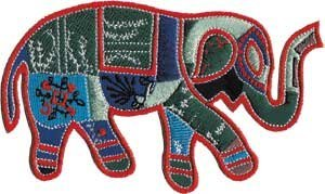 Application Animals Patchwork Elephant Patch - 1