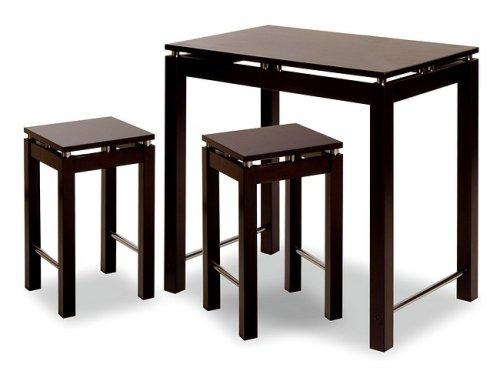 Espresso 3 Piece Kitchen Island Set