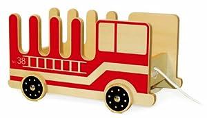 P'Kolino - Portalibros de madera con cuerda, diseño de camión de bomberos de P'Kolino - BebeHogar.com