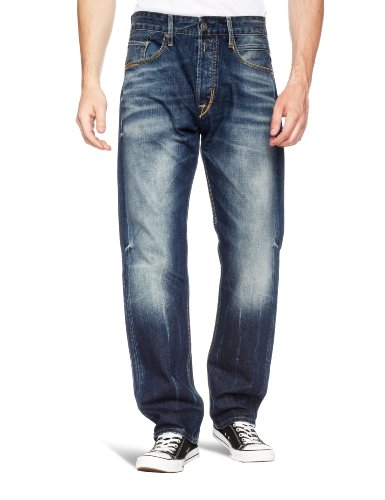 Replay Browann M980 Relaxed Mens Jeans 118 850 Blue Denim W32 INxL32 IN