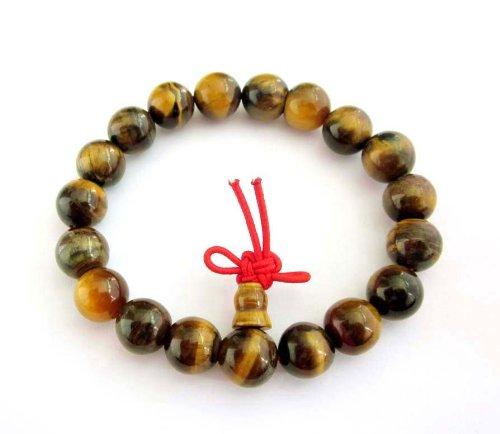 Tiger Eye Beads Tibetan Buddhist Prayer Meditation Wrist Mala Rosary Bracelet