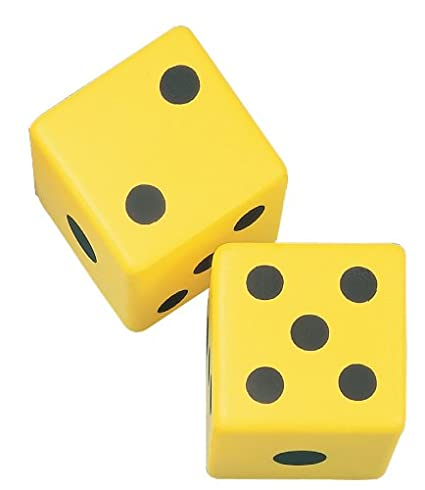 Champion Sports 6 Inch Coated Foam Dice