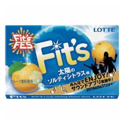 ロッテ Fit's 太陽のソルティシトラス味 12枚 10コ入り