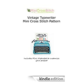 Vintage Typewriter Mini Cross Stitch Pattern