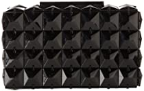 BCBG Lulu Square Stone PNF513EV Clutch,Black,One Size