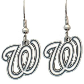 MLB Washington Nationals Charm Dangle Earrings
