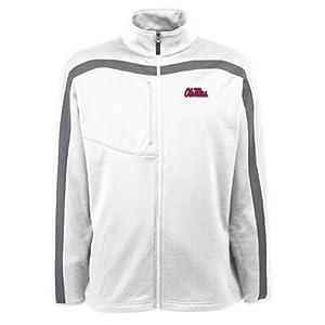 Mississippi Rebels Jacket - NCAA Antigua Mens Viper Performance Jacket White by Antigua