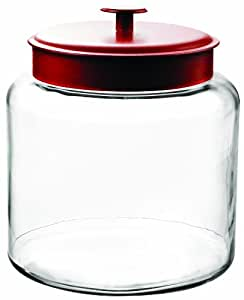 Anchor Hocking 1.5-Gallon Montana Jar with Red Metal Lid