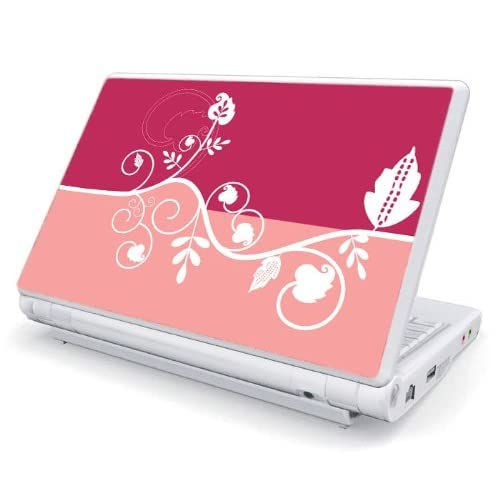 Pink Abstract Flower Decorative Skin Cover Decal Sticker for Asus Eee PC 900 Netbook Laptop Notebook