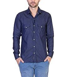 Threadikshion Men's casual shirt tdnbd03_Blue_Large