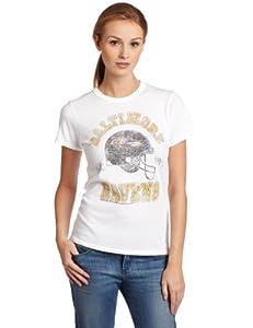 NFL Baltimore Ravens Heather Vintage Short Sleeve Crew Women's by Junk Food Clothing