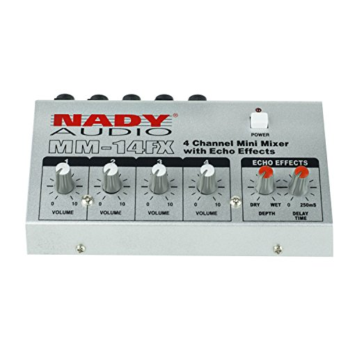 Nady MM-14FX 4-Channel Microphone Mixer with integrated echo effect - 1/4