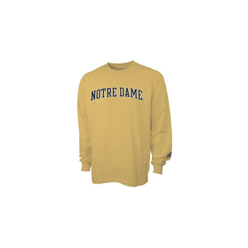 adidas Notre Dame Fighting Irish Gold Primary Long Sleeve T shirt