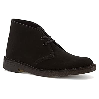 Clarks Originals Women's New Black Suede Desert Boot Womens 5 B(M) US