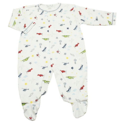 Kissy Kissy Baby Aviators Print Footie-6-9 Months front-984457