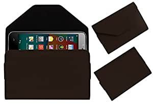 Acm Premium Pouch Case For Fly Qik Flip Flap Cover Holder Brown