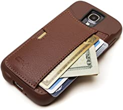 Samsung Galaxy S4 Wallet Case - CM4 Q Card Case for Galaxy S4 - Mahogany Brown - QS4-BROWN