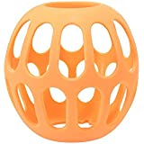 Kinps® High temperature resistant & organic material & Anti-drop and Anti-explosion Baby Bottle Holder baby Nursing Bottle Protector (Large, Orange)