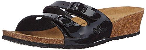 Papillio - Anne Birko-Flor, sandali aperti a cuneo donna, color Nero (Black Patent), talla 38