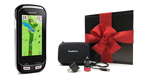 Garmin-Approach-G8-GIFT-BOX-Bundle-Includes-Handheld-Golf-GPS-Belt-Clip-PlayBetter-Protective-Case-PlayBetter-Wall-Car-USB-Charging-Adapters
